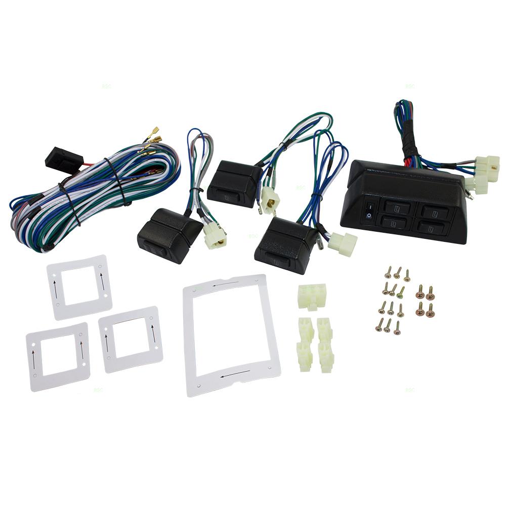 hight resolution of universal 4 door pickup truck suv van car flat design power window switch kit w