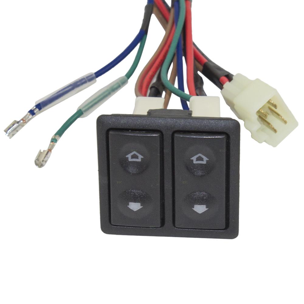 hight resolution of  universal 2 door pickup truck suv van car flat design power window switch kit w