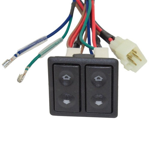 small resolution of  universal 2 door pickup truck suv van car flat design power window switch kit w
