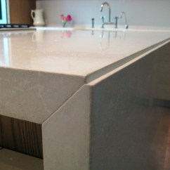 Zinc Top Kitchen Island Cabinet For Waterfall Style Concrete Tops - Brooks Custom