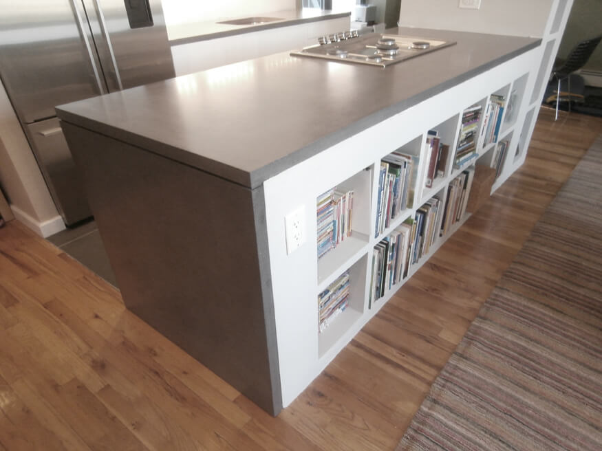 zinc top kitchen island awesome gadgets waterfall style concrete tops - brooks custom