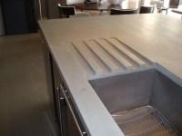 Concrete Countertop Detail Images - Brooks Custom