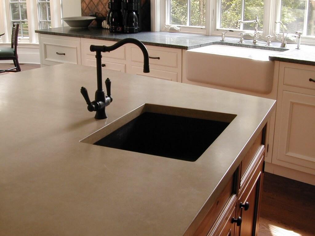 ready made island for kitchen wine themed rugs verdicrete concrete countertops - brooks custom