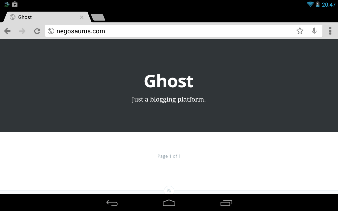 Ghost screenshot