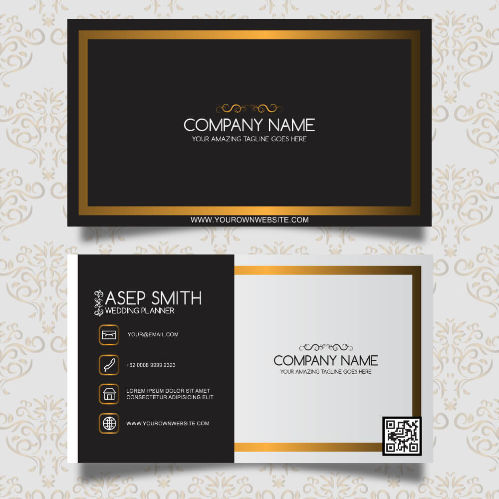 Hotel Visiting Card Design Double Sided Bkdesigns