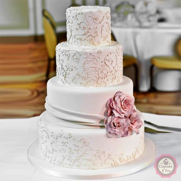 Hochzeitstorte 4stckig vintage  Cupcake4You