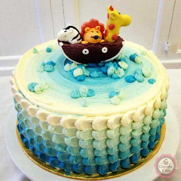 Motivtorte einstckig Icing Cake  Arche Noah