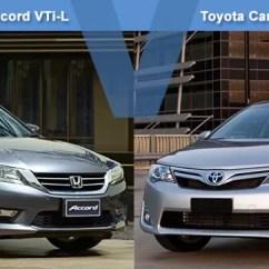 All New Camry Vs Accord Innova Venturer 2018 Honda Vti L Toyota Hybrid Hl Review Carsguide