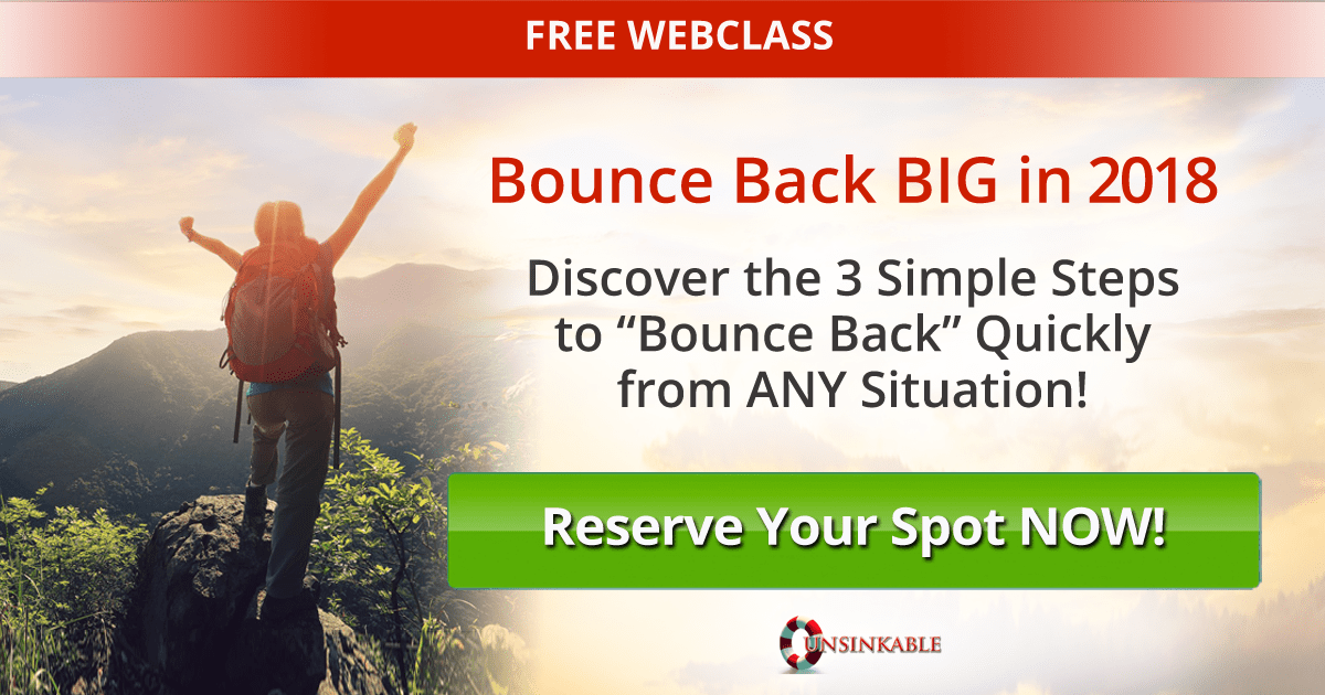 bouncebackbig2018 - Free Webinar Training: 3 Steps to Bounce Back BIG in 2018! with Sonia Ricotti