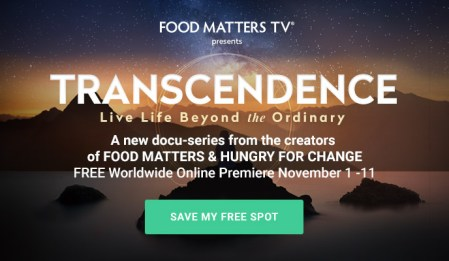Transcendence - Live Life Beyond the Ordinary: FREE with Food Matters 4 Transcendence - Live Life Beyond the Ordinary: FREE with Food Matters