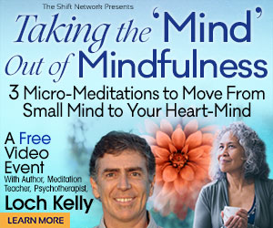 Taking the 'Mind' Out of Mindfulness: FREE from Loch Kelly at The Shift Network 1 Taking the 'Mind' Out of Mindfulness: FREE from Loch Kelly at The Shift Network