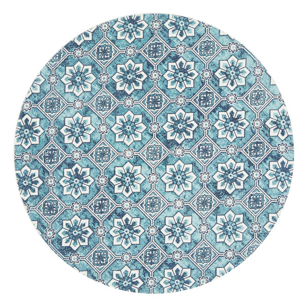 lunar braided cotton moroccan tile design round rug