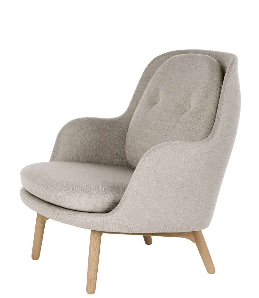 Fritz Hansen Chairs Fri Easy Chair With Wooden Base Sunniva 2 143 By Fritz Hansen