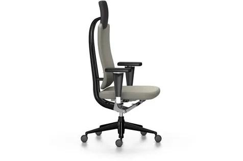 swivel chair on carpet green tufted dining headline office light grey 02 castors hard braked by vitra