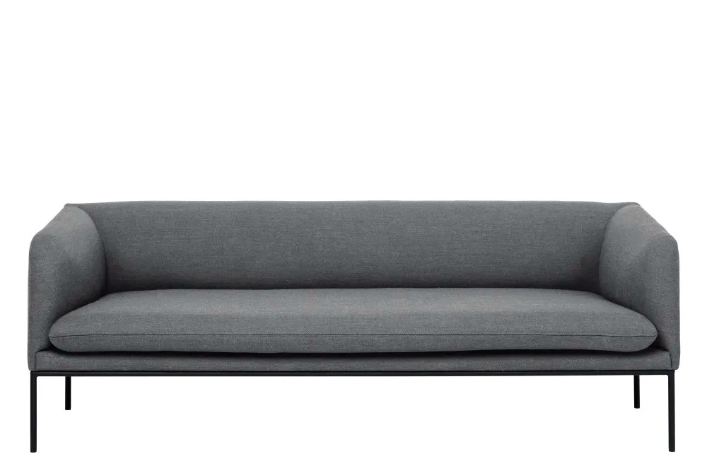 hay sofa kvadrat leather atlanta ga turn 3 seater fiord by solid light grey without crib ferm living