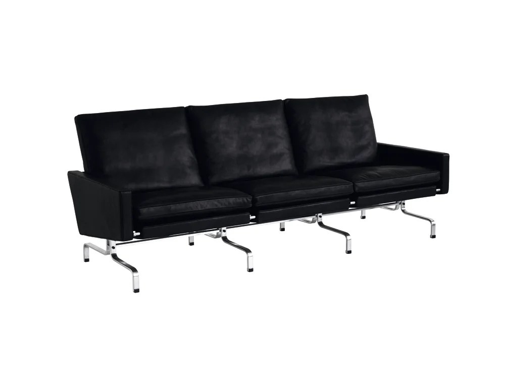 3 seater sofa black leather mobile repair pk31 elegance by republic of fritz hansen clippings