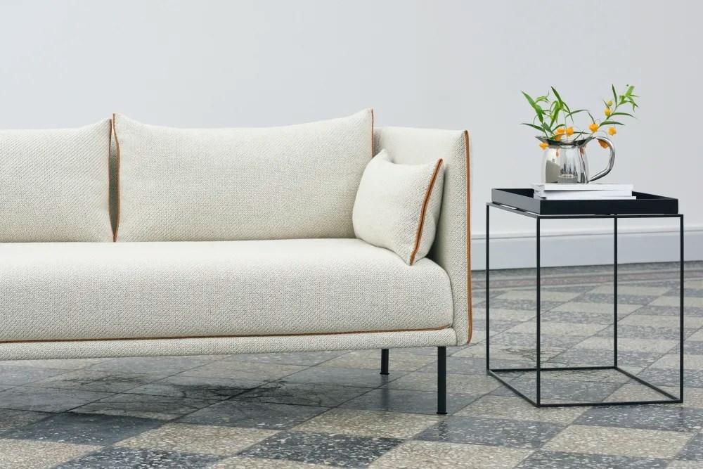 hay sofa kvadrat sleeper sofas san antonio tx silhouette 2 seater powder coated steel cognac leather remix view more images