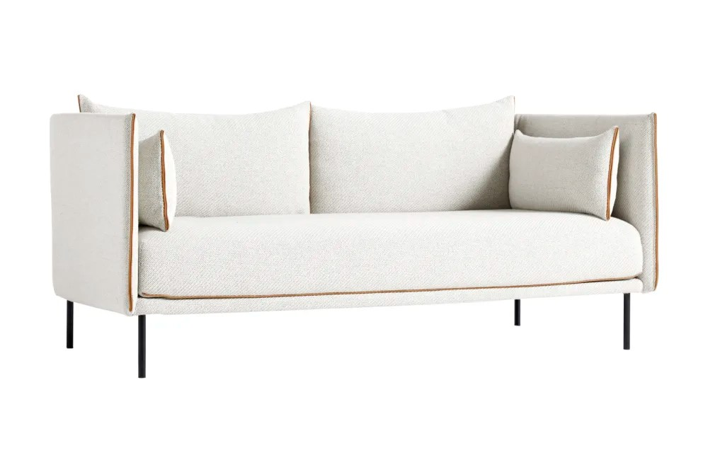 hay sofa kvadrat coaster tess sectional silhouette 2 seater powder coated steel cognac leather remix by