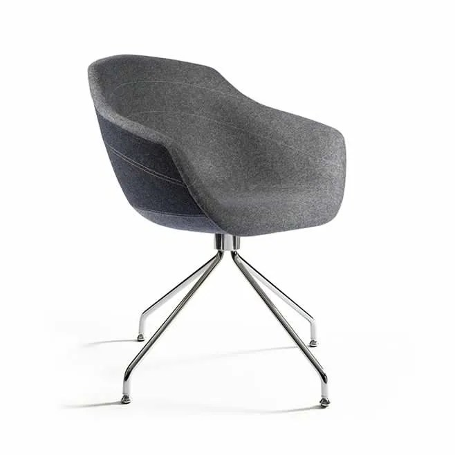 chair steel legs office cushion canal swivel dining with ton sur anthracite by moooi clippings
