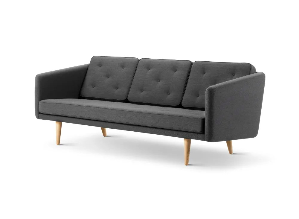 moods 3 seater leather sofa bed latest designs of sets no 1 crisscross 1601 mood 3101 oak lacquered base by fredericia