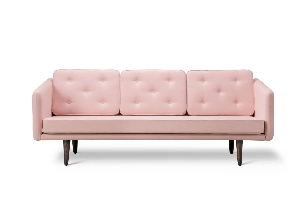 moods 3 seater leather sofa bed value city furniture sectional sofas no 1 crisscross 1601 mood 3101 oak lacquered base by fredericia
