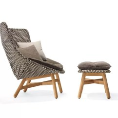 Teak Lounge Chair Black Windsor With Arms Mbrace & Footstool By Dedon Clippings