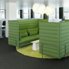 Fabric Material For Sofa Small Hide A Bed Alcove Plume Contract Highback Three-seater By Vitra Clippings