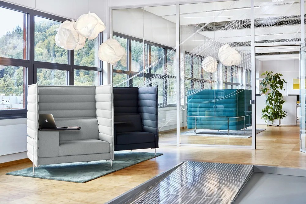 grey material office chair design unique alcove highback work by vitra