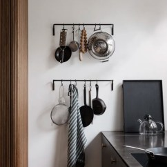 Kitchen Hooks Tiles Backsplash Rod With 6 Set Of 4 Black By Ferm Living Clippings From