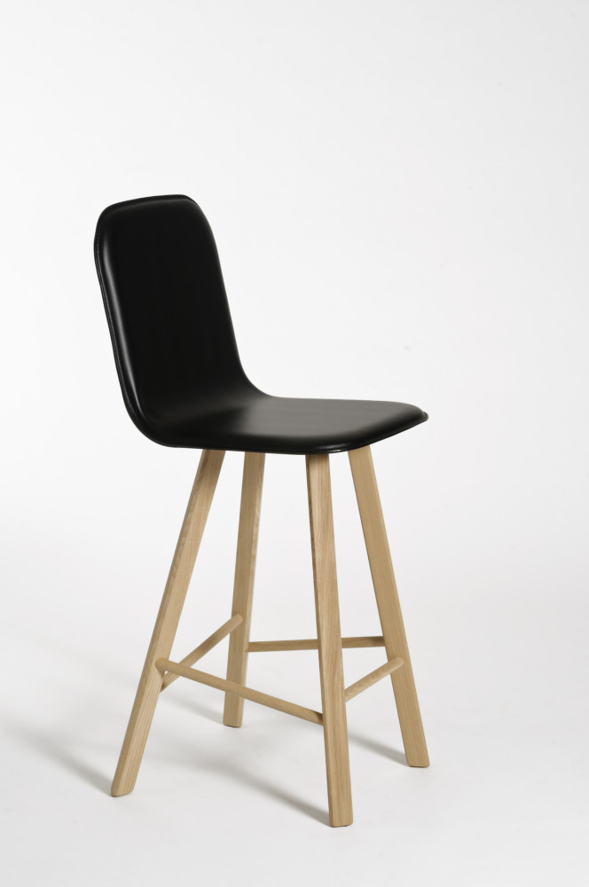 Tria High Backed Bar Stool by Col Italian Design Label