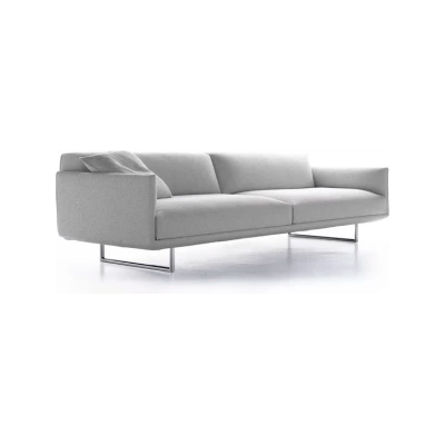 hara sofa 2 seater pelle albicocca r801 anthracite grey adjustable backrest
