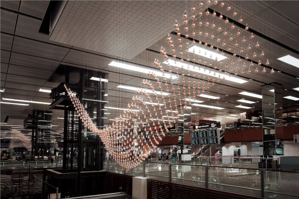Singapore Kinetic Rain Sculpture
