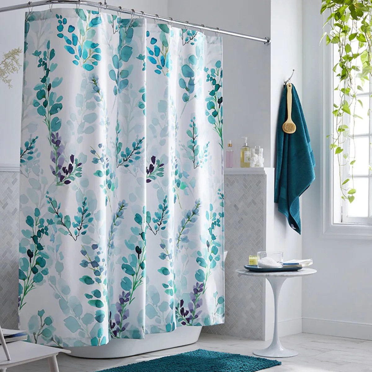 legends hotel reece floral wrinkle free sateen shower curtain
