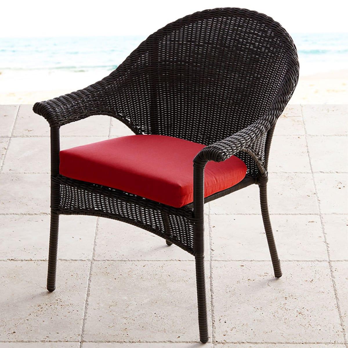 sunbrella contoured chair cushion white