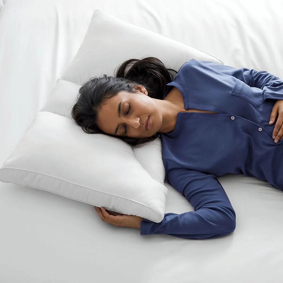 duo sleep neck posture pillow white