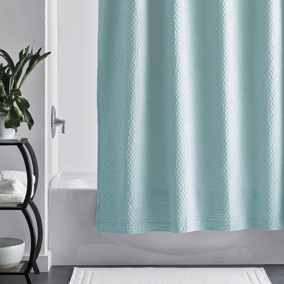 legends luxury sterling matelasse shower curtain aqua haze