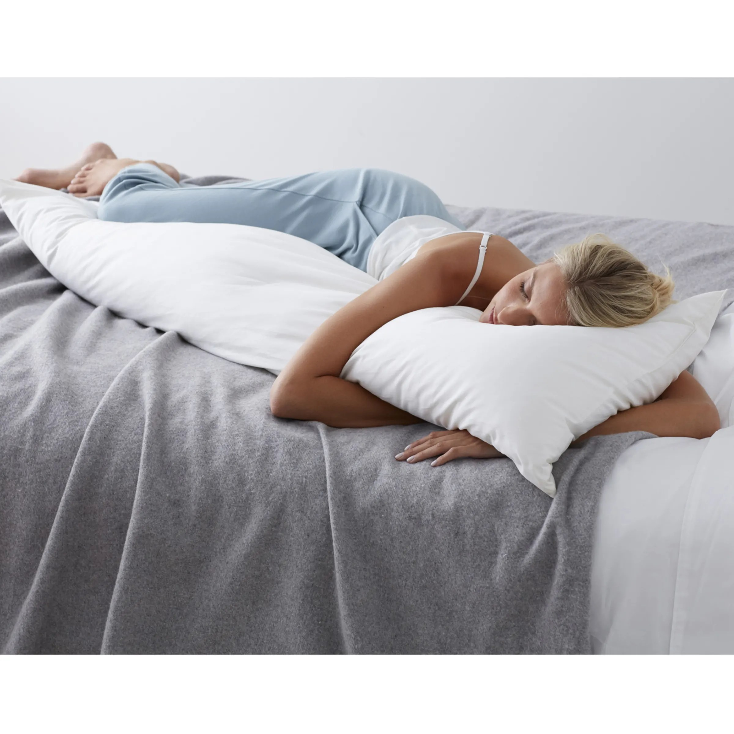 company essentials feather and down firm density body pillow insert