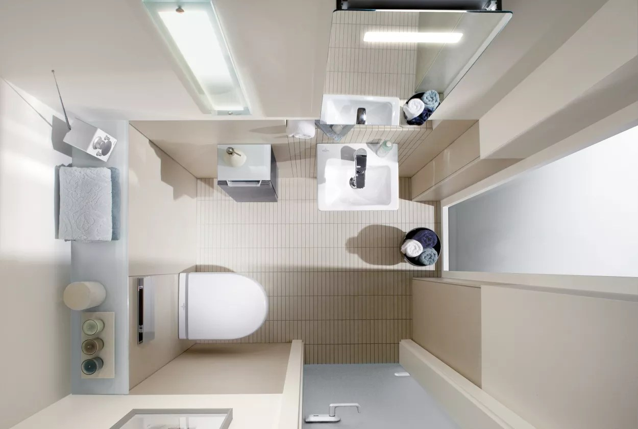 Kleines Badezimmer einrichten auf AD  AD