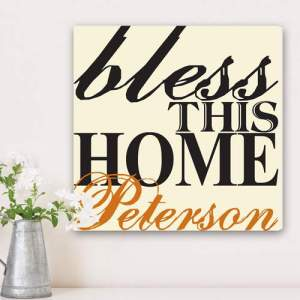 Personalized Blessing of the Home Family Canvas Print