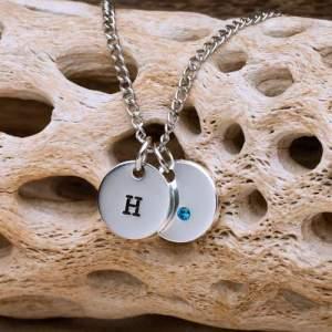 Personalized Swarovski Crystal Charm Necklace