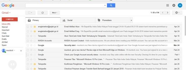 Gmail terbaru dari Google