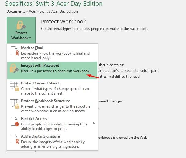Begini Cara Mudah Membuat Password Di Microsoft Excel