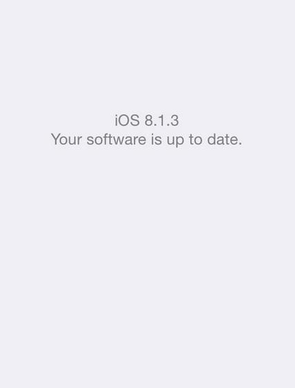 Update iOS 8