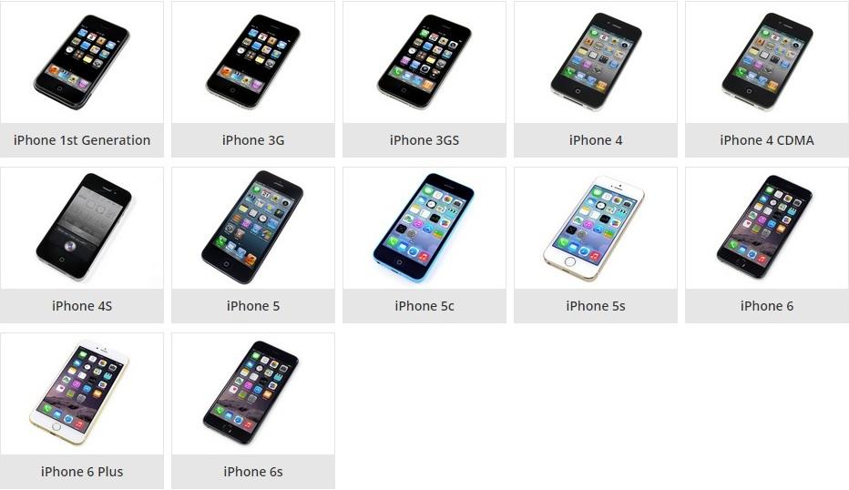 Jenis-jenis iPhone