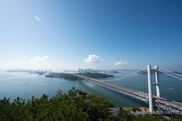 鷲羽山展望台からの瀬戸大橋
