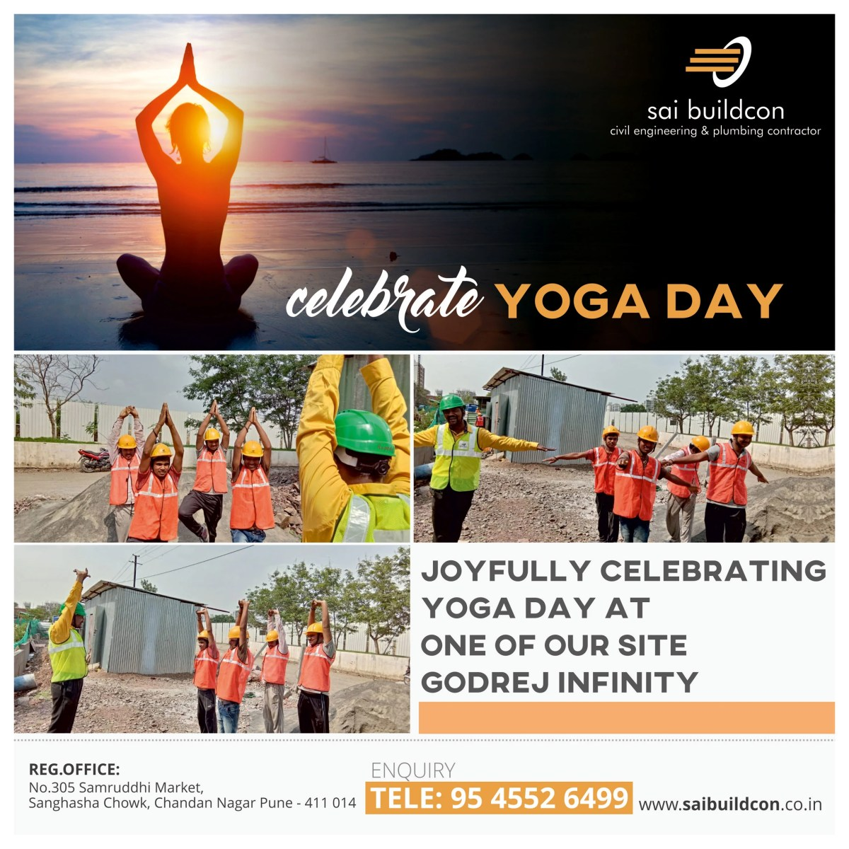 22 July 2018 Yoga Day Campaign for Sai Buildcon Yoga Day