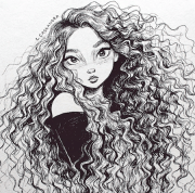 curly hair comics - cartoons