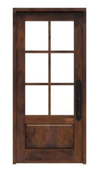 6 Lite Front Entry Door | Rustica Hardware