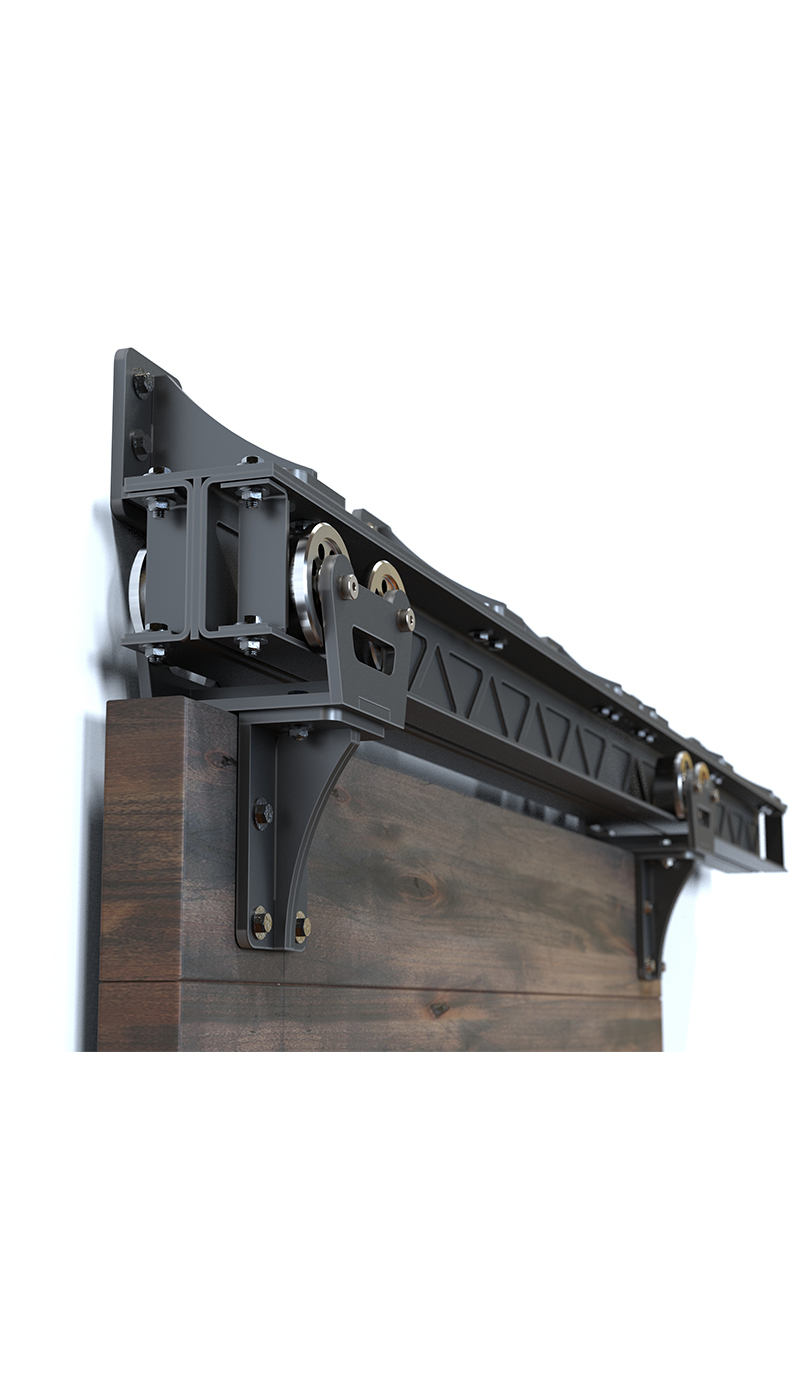 Heavy Duty Barn Door Hardware IBeam Trolley  Rustica Hardware