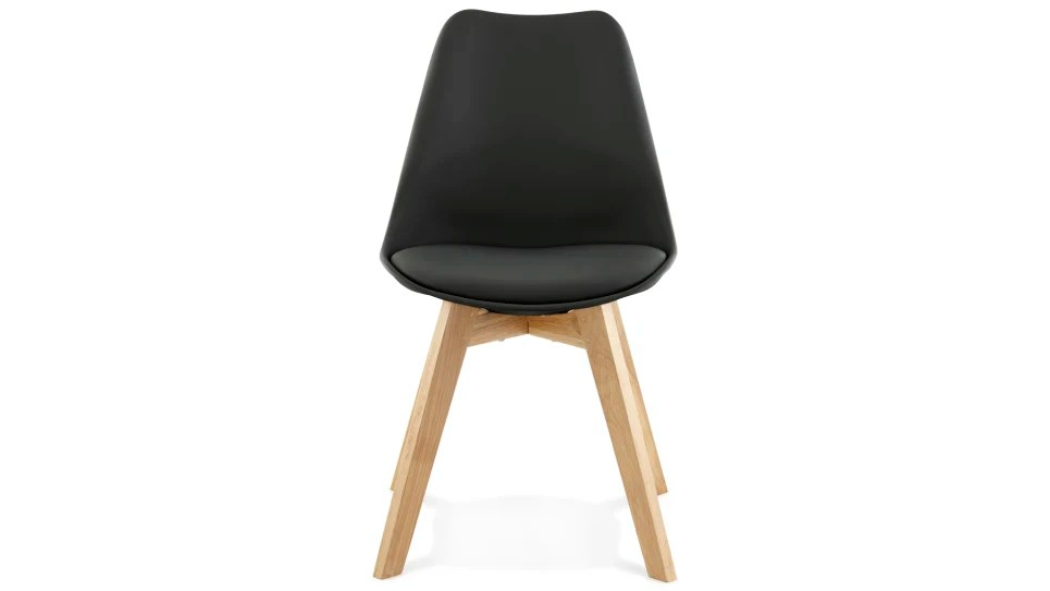 trendy chaise noire pied bois delorm design